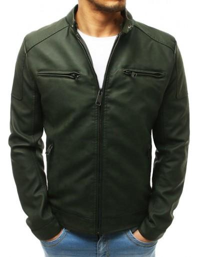 Zelená pánská kožená bunda TX2657
