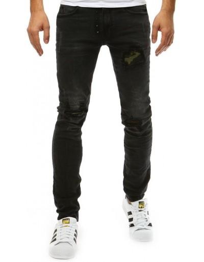 Pánské černé džínové kalhoty UX1852