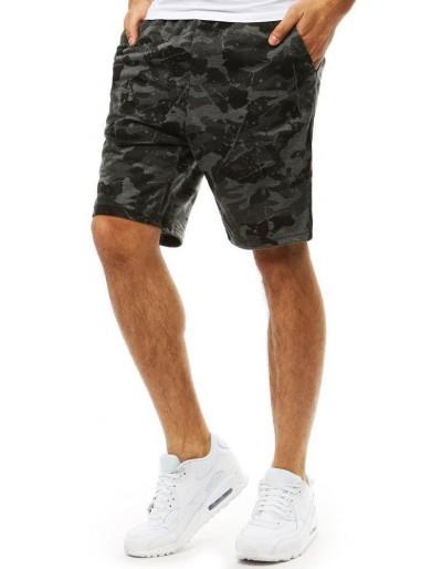 Pánské krátké kalhoty, kamuflážní grafit SX0837