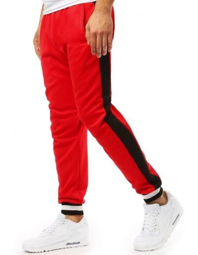 Červené pánské tepláky jogger UX1875