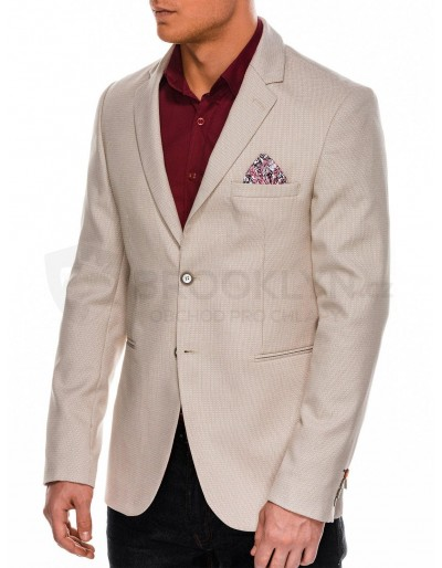 Men's elegant blazer jacket M105 - beige
