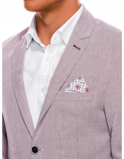 Men's elegant blazer jacket M97 - red