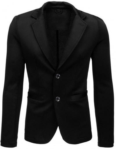 Pánská ležérní černá bunda MX0445