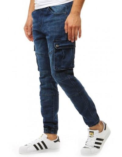Pánské kalhoty jogger denim look UX1892
