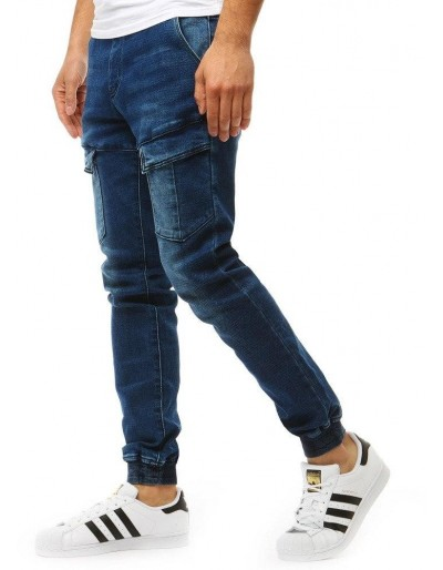Pánské džínové kalhoty běžec vypadají modře UX1893
