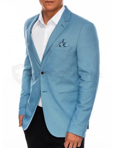 Men's elegant blazer jacket M102 - light blue