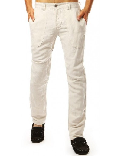 Světle béžové pánské kalhoty UX1898
