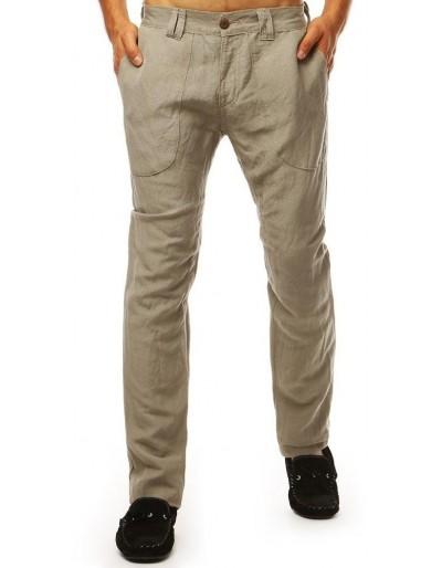 Tmavě béžové pánské kalhoty UX1900