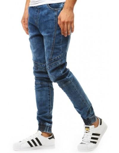 Pánské džínové kalhoty běžec vypadají modře UX1902