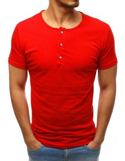 Červené pánské obyčejné tričko RX3462