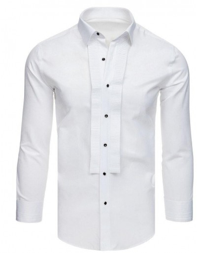 Smokingová košile s volánky, bílá DX1740