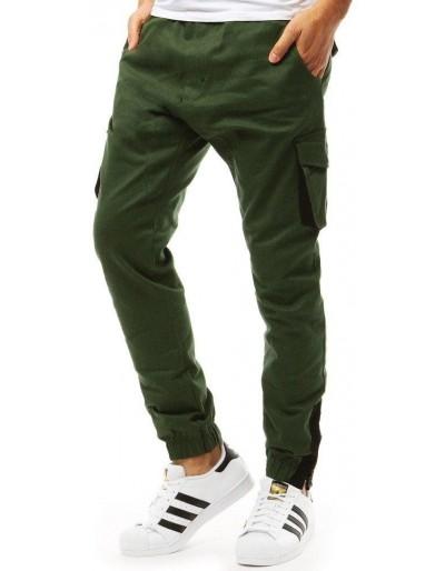 Zelené pánské jogger kalhoty UX1916