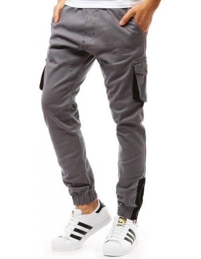 Šedé pánské jogger kalhoty UX1917