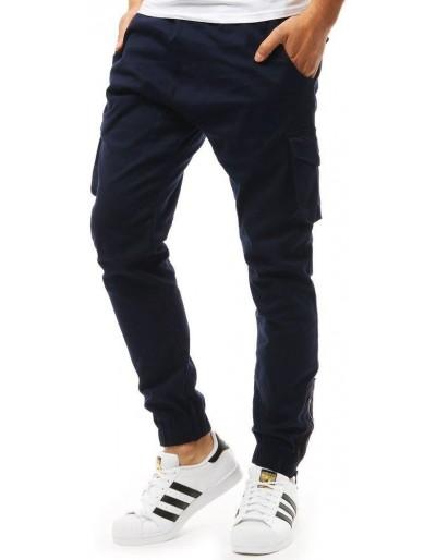 Tmavě modré pánské jogger tepláky UX1918