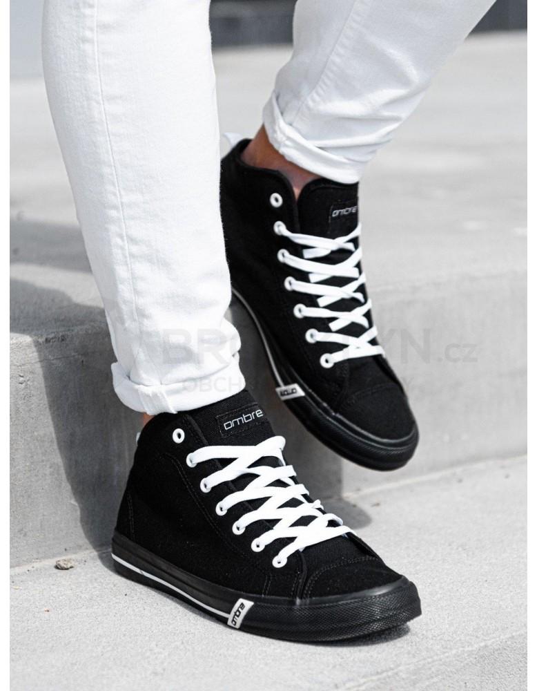 Pánské vysoké tenisky T304 - černé