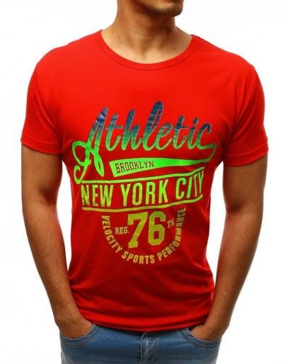 Červené pánské tričko RX3501 s potiskem