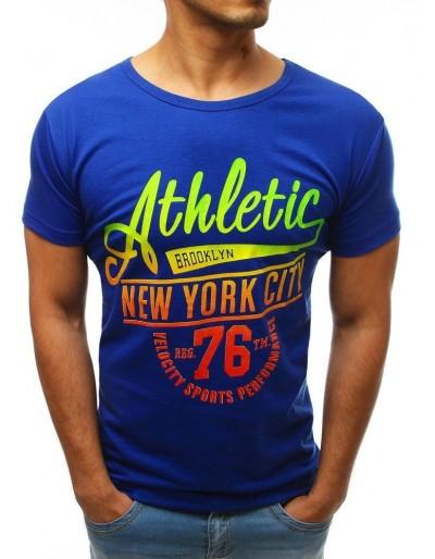 Modré pánské tričko RX3502 s potiskem
