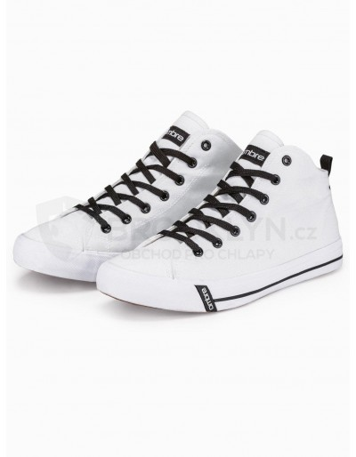 Men's high-top trainers T304 - white