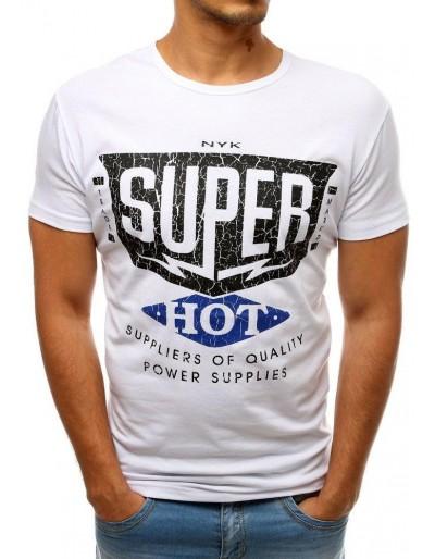 Bílé pánské tričko RX3520 s potiskem