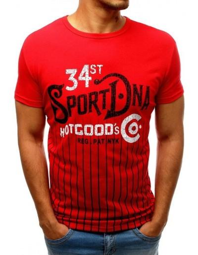 Červené pánské tričko RX3533 s potiskem