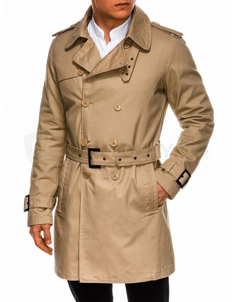 Pánský podzimní kabát C346 - béžový