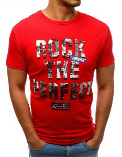 Červené pánské tričko RX3546 s potiskem
