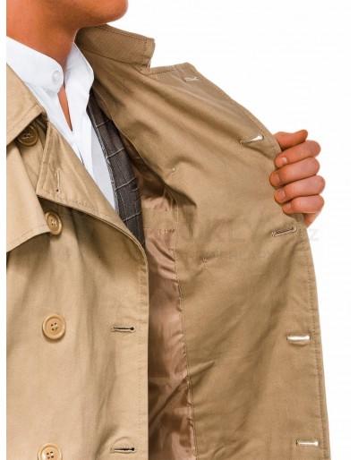 Men's autumn coat C346 - beige