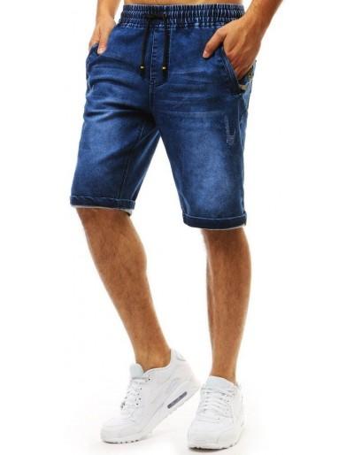 Pánské modré džínové kraťasy SX0951