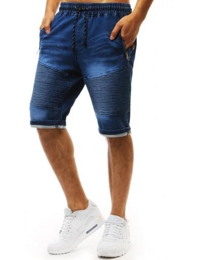 Pánské modré džínové kraťasy SX0954