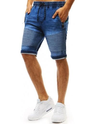 Pánské džínové kraťasy modré barvy SX0955