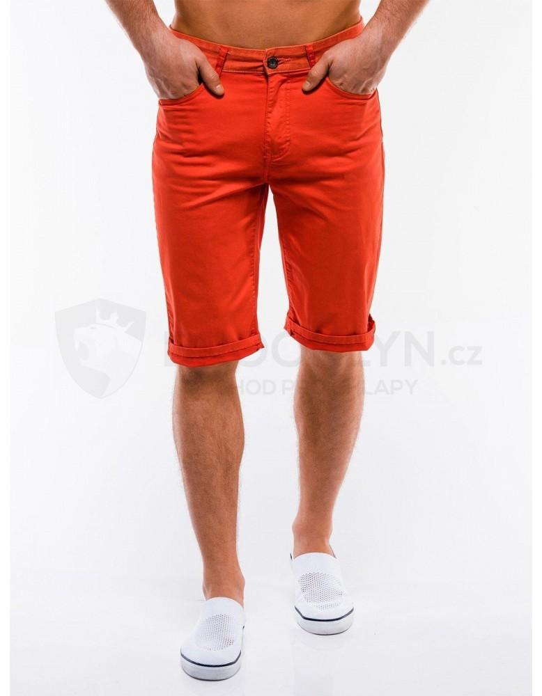 Pánské chino šortky W214 - oranžové