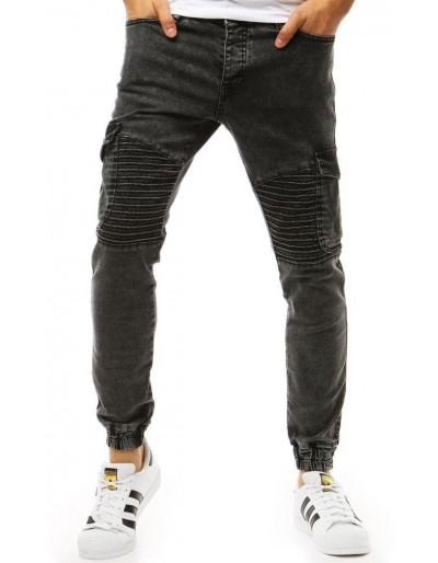 Černé pánské džínové jogger kalhoty UX1929