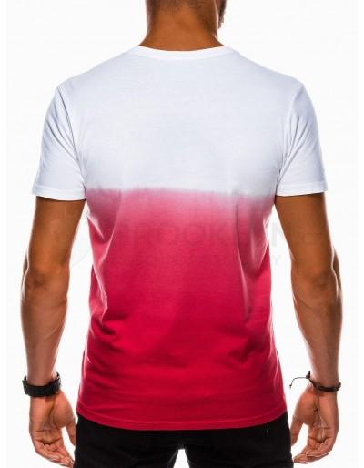 Men's plain t-shirt S1036 - red