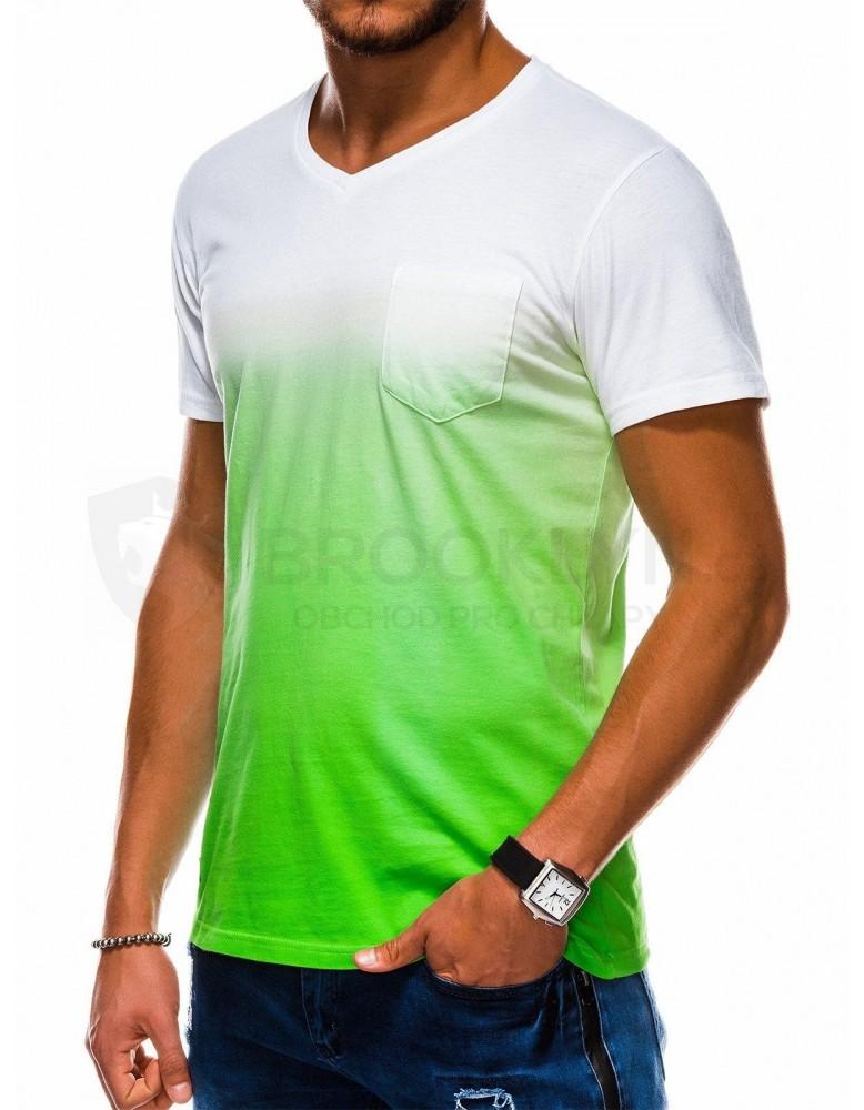 Pánské obyčejné tričko S1036 - zelené