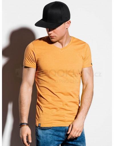 Pánské obyčejné tričko S1041 - žluté
