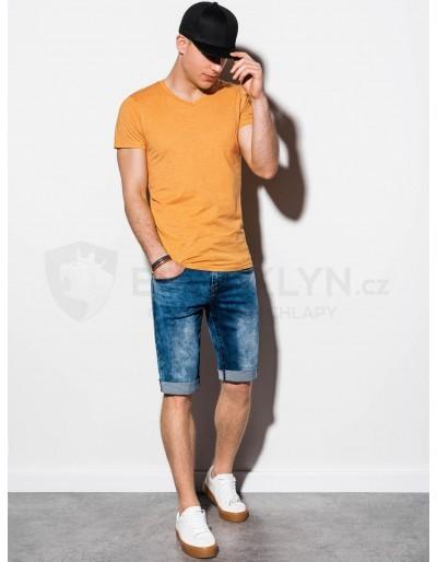 Men's plain t-shirt S1041 - yellow