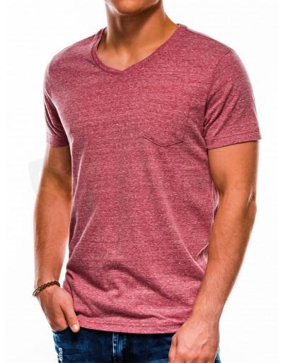 Pánské obyčejné tričko S1045 - tmavě červené
