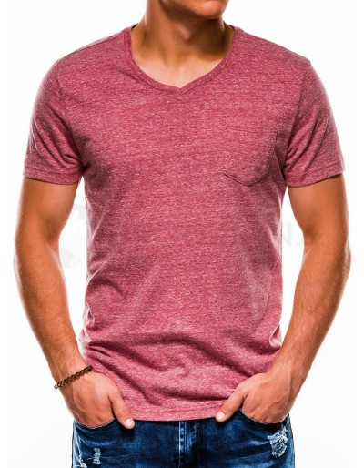 Men's plain t-shirt S1045 - dark red
