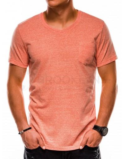 Pánské obyčejné tričko S1045 - oranžové