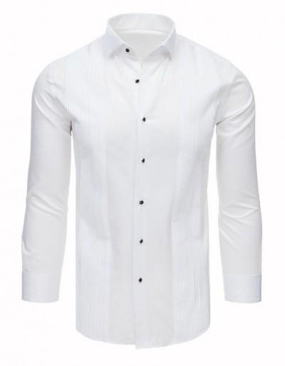 Smokingové tričko s volánky bílé DX1743