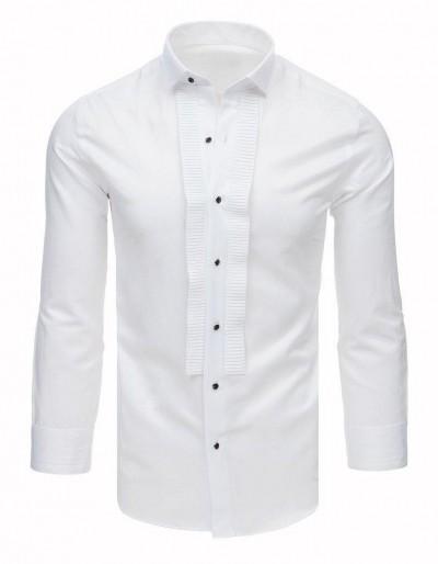 Smokingová košile s volánky, bílá DX1744