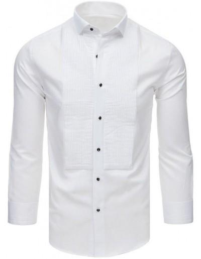 Smokingová košile s volánky, bílá DX1746