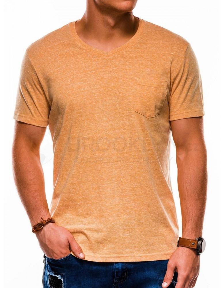 Pánské obyčejné tričko S1045 - žluté