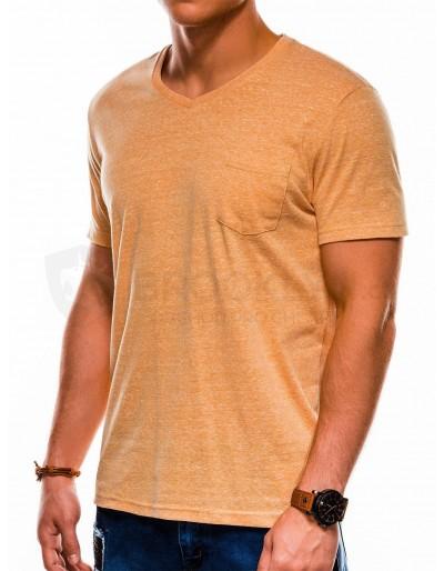 Men's plain t-shirt S1045 - yellow
