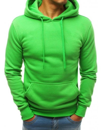 Světle zelená pánská mikina s kapucí BX3991