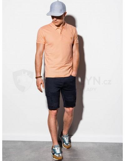 Men's plain polo shirt S1048 - peach