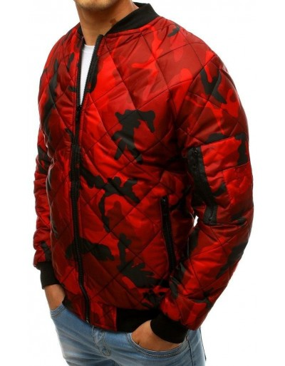 Kurtka męska pikowana bomber jacket moro czerwona TX2686