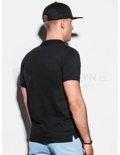 Men's plain polo shirt S1048 - black