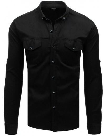 Černé pánské tričko s dlouhým rukávem DX1755