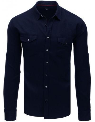 Námořnická modrá pánská košile DX1757